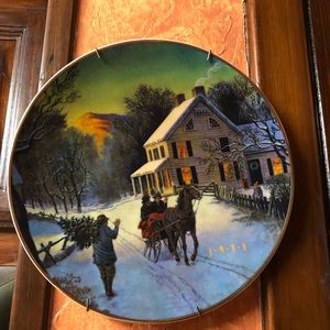 plate 1988 Christmas Vtg By Avon
